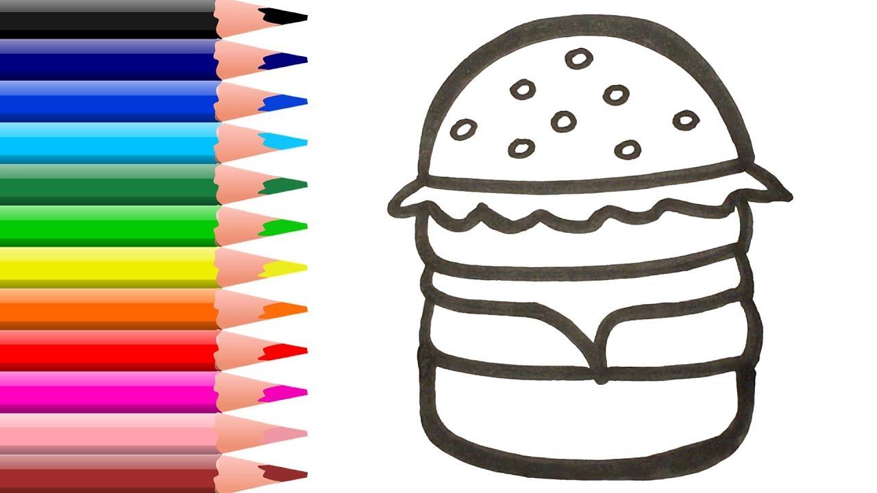 Раскраска для детей БУРГЕР. Мультик-Раскраска. Рисуем и ...