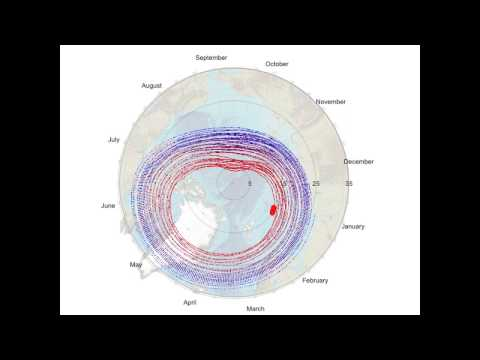 Arctic Sea Ice Death Spiral -- 2017