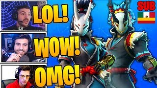 Streamers react to *NEW SKINS* TARO & NARA + VOLADORA CAP - FORTNITE
