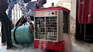 कूलर में तरल नाइट्रोजन डाल दे तो क्या होगा - Liquid Nitrogen In Water Cooler Experiment