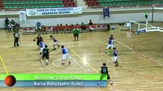 Mürüvvet Evyap Koleji - Bursa Bahçeşehir Koleji Basketbol Yarı Final Maçı