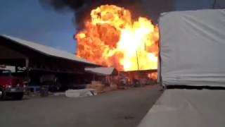 Sonoma Pallet Factory Fire & Explosion