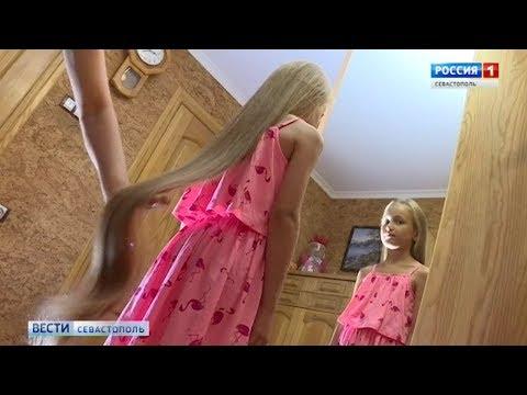 111 см: севастопольская школьница установила рекорд России по длине волос