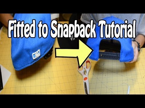 DIY: How To Turn A Fitted Into A Snapback | Customize Yo Hat #7