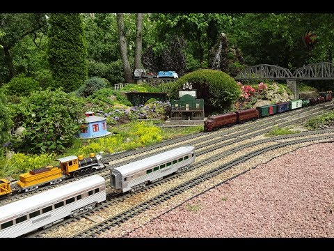 The Train Lady Amazing Model Railroad RR LGB G & O Scale Gauge trains layouts Awesome Large Layout