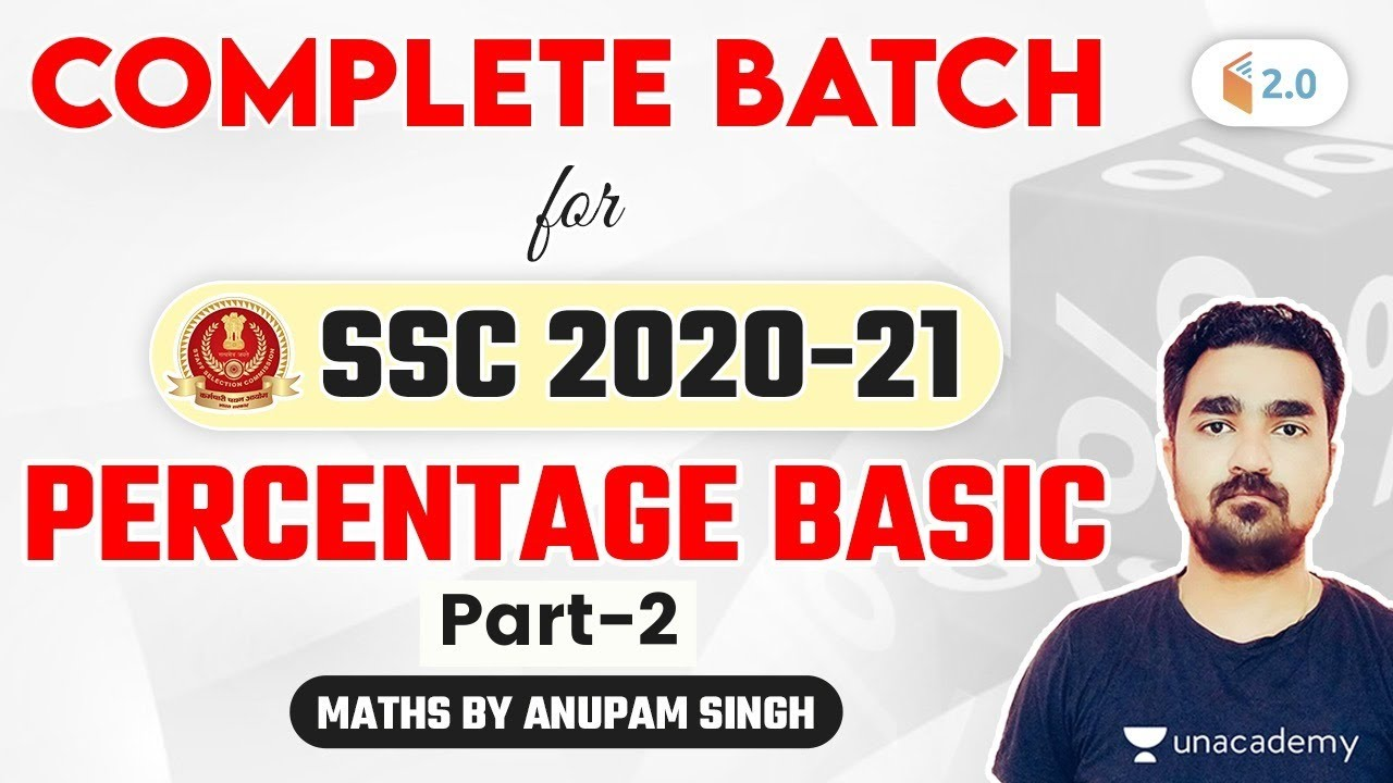 Download 4:00 PM - SSC 2020-21 | Maths Complete Batch by Anupam Singh Rajput | Percentage Basics