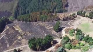 Aerial video of fire damage to the Port Hills (raw version)
