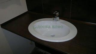 видео столешницы для ванной комнаты