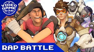 Overwatch vs. Team Fortress 2 - Video Game Rap Battle(VideoGameRapBattles is back with a rap battle between Overwatch and TF2. The Scout, Medic, and Heavy face off against Tracer, Widowmaker, and Winston in ..., 2016-08-05T20:00:01.000Z)