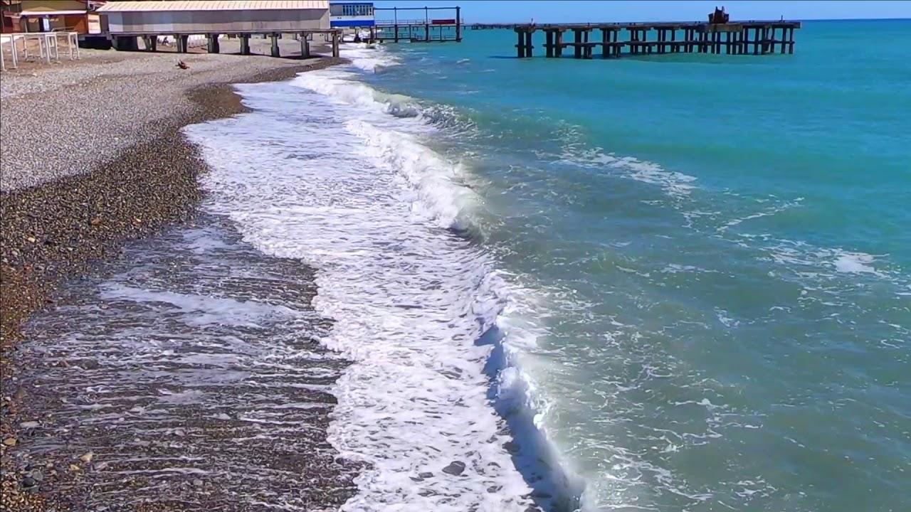 Сочи- пляж Судоверфь Лазаревское 2020 - YouTube