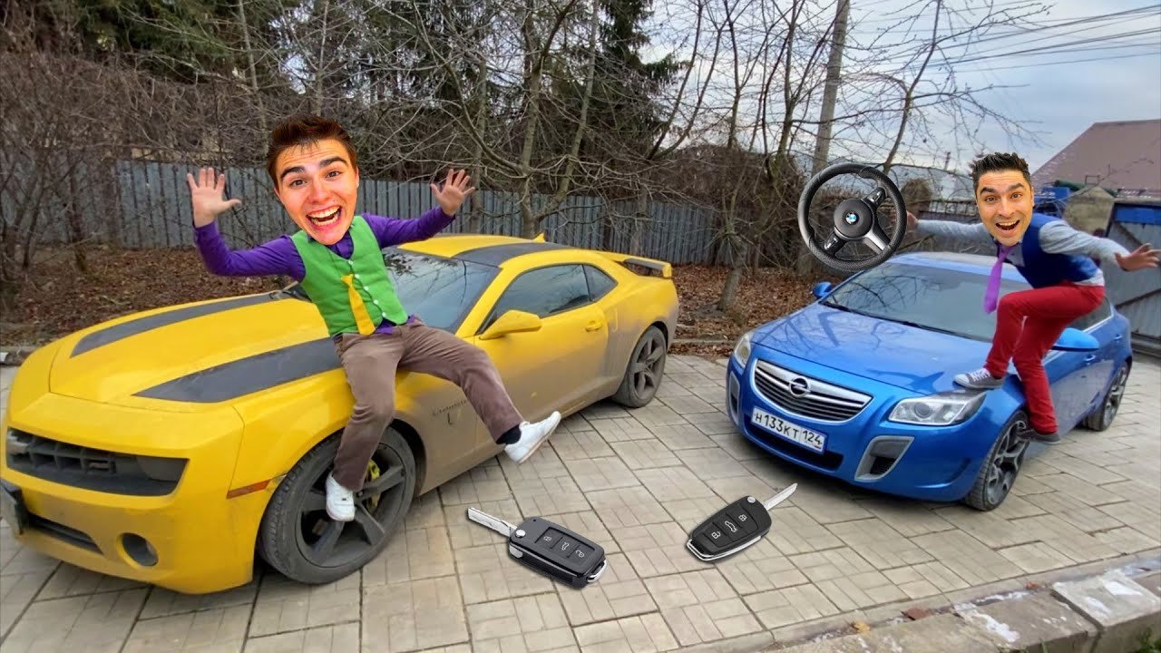 Mr. Joe on Opel HID Steering WHEEL in GARAGE VS WIZARD Mr. Joker Conjured Car Keys from Camaro 13+