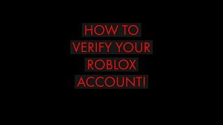 How to verify your roblox account!