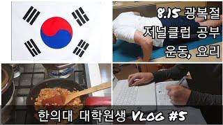 한의대 대학원생 Vlog | 대학원생 휴일, 무식한 방…