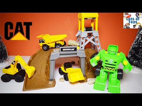 Caterpillar Construction Mining Playset, Transformers Rescue Bots Boulder Dump Truck, Excavator
