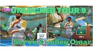 Tennis Clash New Update (Tour 9 Unlocked & Got Serve and Volley Omar) screenshot 5
