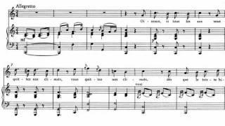 W. A. Mozart - Oiseaux si tous les ans - Piano accompaniment