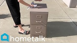 Filing Cabinet Desk | Here's a great idea for your old filing cabinets! | Hometalk