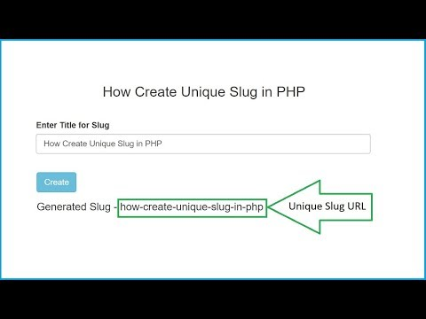 How to Generate Unique URL Slug in PHP - YouTube