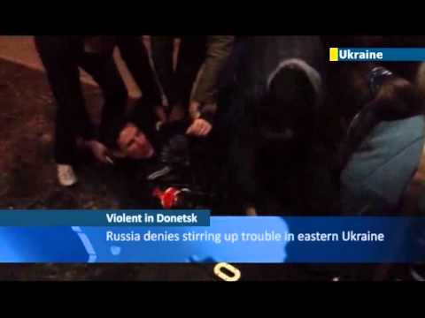 Russian provocateurs blamed for violent clashes in Donetsk resulting in one death