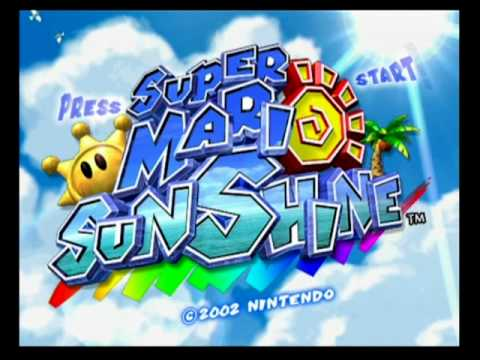 Super Mario Sunshine Start Up Intro And Demo Youtube