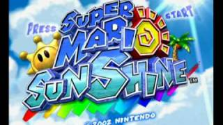 Super Mario Sunshine - start up intro and demo