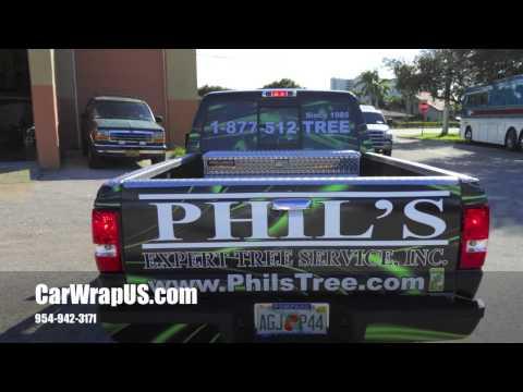 Ford Ranger, 3M Full Wrap Vinyl Car Wrap Phil's Expert Tree, Coconut Creek