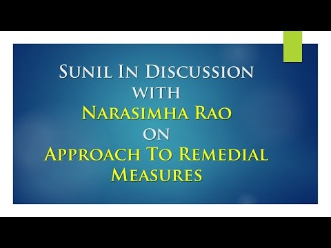 Sunil In Discussion With Narasimha Rao on Approach To Remedial Measures