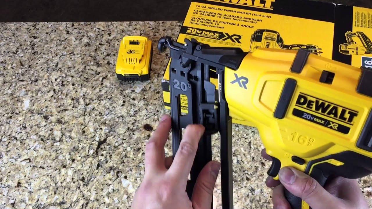 Dewalt Brushless 20V Max 16 Gauge Nailer DCN660 - YouTube