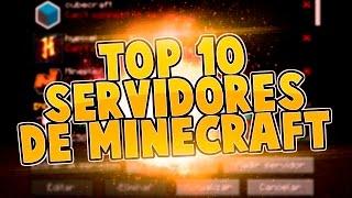 TOP 10 SERVIDORES DE MINECRAFT 1.8 PREMIUM REVIEW