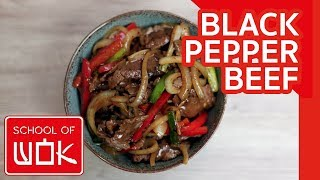 Simple Chinese Black Pepper Beef Stir Fry Recipe