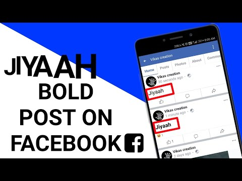 How To Do Bold Post On Facebook Full Explanation 2019, Change Facebook Font Size In Android
