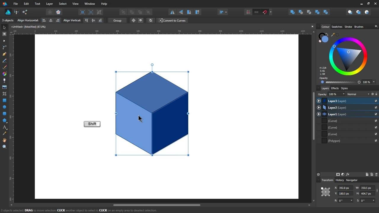 Cube: Affinity Designer Tutorial   YouTube