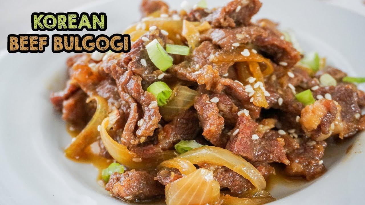 Resep Bulgogi Simpel Dan Enak Korean Beef Bulgogi Youtube