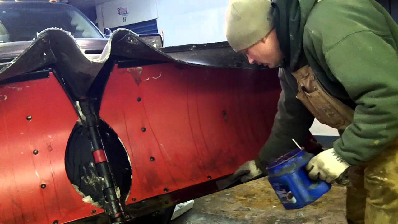 How to install a cutting edge on Boss v plow Plow