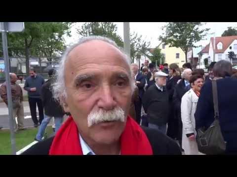 Michel Warschawski à l'inauguration de la plaque Allée Max Warschawski