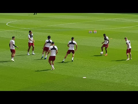 Liverpool Training for Champions League Final LIVE from ANFIELD