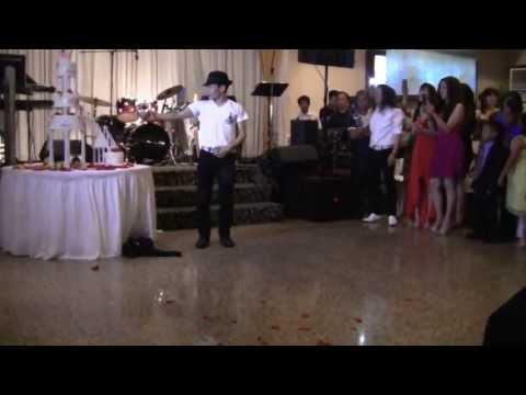 Kenichi Ebina at a wedding reception