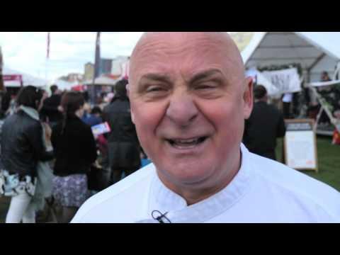 Celebrity Chef Aldo Zilli launches Zillicious at Foodies Festival in Brighton