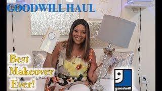New! Goodwill Haul - My Best Goodwill Makeover EVER! - MOOREGIRL