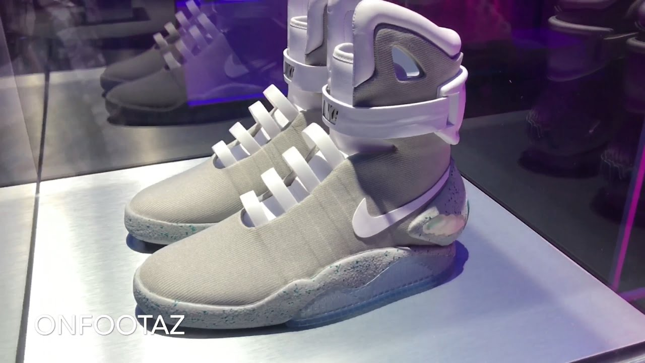 cae9b8671c9 NIKE MAG 2016 First Look and On Foot - YouTube