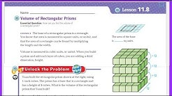 Go Math 5th Grade Lesson 11.8 Volume of Rectangular Prisms
