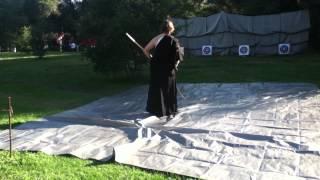 "The Japanese archery art of ""kyudo!"""