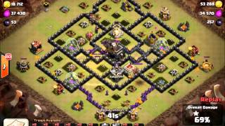 Clash of Clans: BP GoHoLaLoon - New TH9 War Strategy??