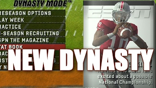 NEW NCAA FOOTBALL DYNASTY