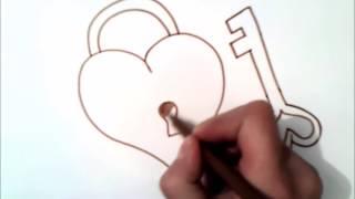 איך לצייר לב