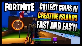 """Collect Coins in Featured Creative Islands"" FASTEST and EASIEST Way! (Fortnite Season 7)"