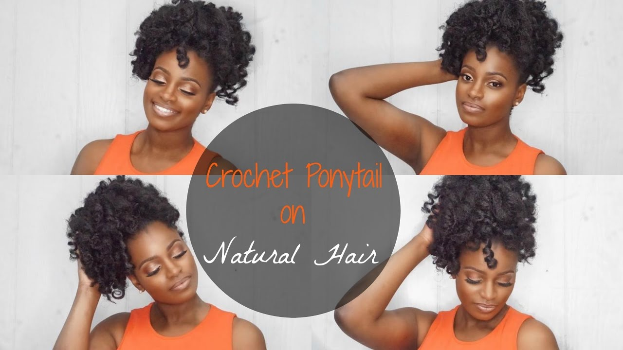 Crochet Ponytail On Natural Hair Quick Easy Affordable Woc