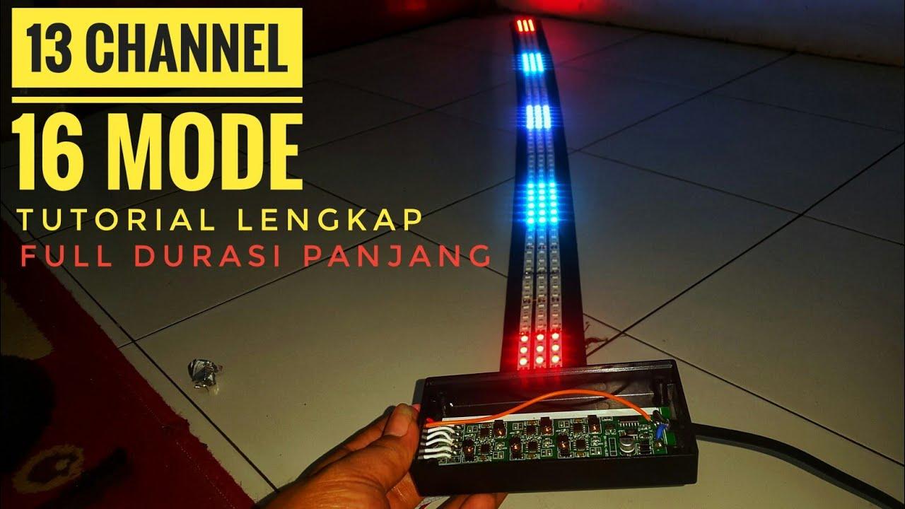 Membuat strobo Pelangi 13 channel 3 baris   strobo pelangi running tanpa arduino