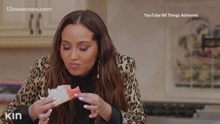 Adrienne Houghton puts fruit punch in her tuna salad