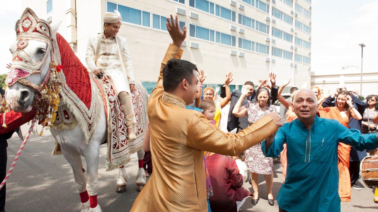 Baraat Dance An Indian Wedding Baraat At Renaissance Newark Airport Hotel NJ